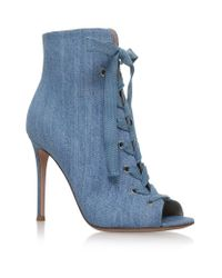 Gianvito Rossi | Blue Marie Denim Ankle Boots 105 | Lyst