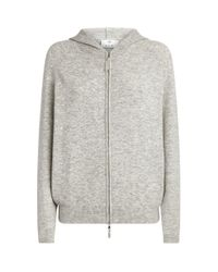 Allude Gray Zip-up Hoodie