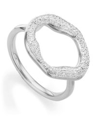 Monica Vinader | Metallic Riva Diamond Circle Ring | Lyst