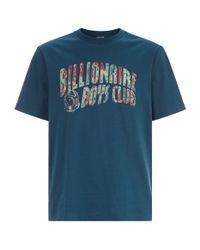 BBCICECREAM Blue Lizard Camouflage Logo Printed T-shirt for men