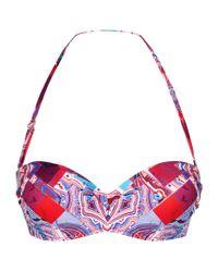 Gottex Multicolor Printed Bandeau Bikini Top