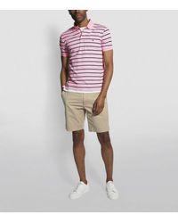 Ralph Lauren Pink Shadow Stripe Polo Shirt for men