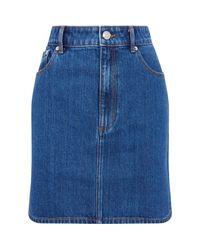Burberry Blue Denim Skirt