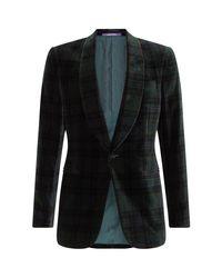Ralph Lauren Purple Label Green Velvet Shawl Lapel Blazer for men