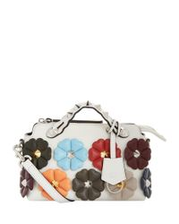 Fendi Multicolor Small By The Way Boston Embellished Bag