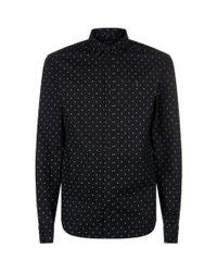 AllSaints Black Fairfield Shirt for men