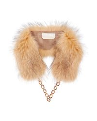 Max Mara - Brown Marmot Fur Collar - Lyst