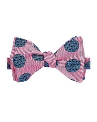 Turnbull & Asser Pink Polka Dot Bow Tie for men