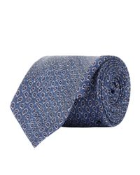 Corneliani - Blue Paisley Tie for Men - Lyst