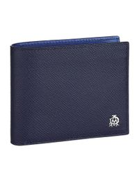 Dunhill - Blue Saffiano Leather Wallet, Navy for Men - Lyst