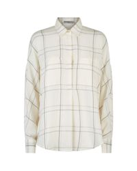 Vince White Plaid Shirt