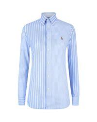 Polo Ralph Lauren Blue Heidi Stripe Shirt for men