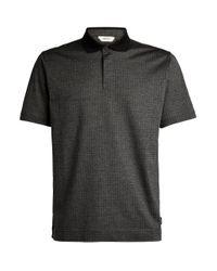 Z Zegna Gray Contrast-collar Polo Shirt for men