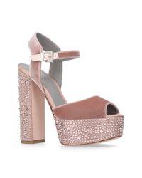 Gina Pink Embellished Caudalie Sandals