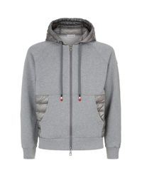 Moncler Gray Quilted Hoodie for men