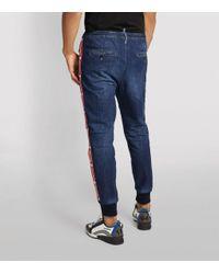 DSquared² Blue Logo Tape Sweatpants for men