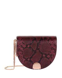 Ted Baker Red Annii Snake Print Shoulder Bag