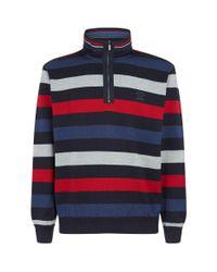 Paul & Shark Blue Knitted Zip-up Sweater for men