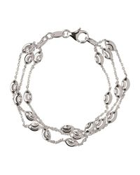 Links of London Metallic Beaded Chain 3 Row Bracelet-m