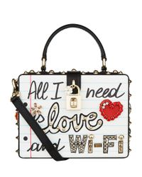 Dolce & Gabbana Multicolor All I Need Is Love Top Handle Bag