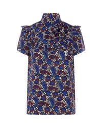 Sandro Natural Paisley Silk Shirt