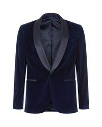 BOSS Blue Slim Fit Velvet Jacket for men