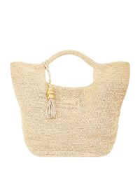 Heidi Klein Natural Grace Raffia Bucket Bag