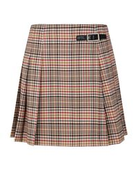 Claudie Pierlot Multicolor Prince Of Wales Check Mini Skirt