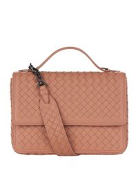 Bottega Veneta Pink Leather Alumna Shoulder Bag
