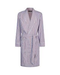 Harrods - Red Contrast Stripe Robe for Men - Lyst