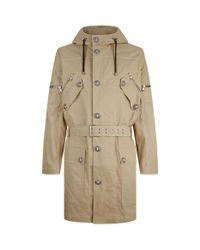 Balmain Natural Belted Parka Jacket