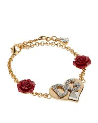 Dolce & Gabbana - Metallic Logo Pendant Bracelet - Lyst