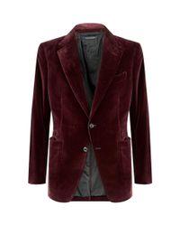 Tom Ford Multicolor Velvet Shelton Jacket for men