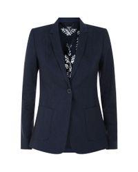 Elie Tahari - Blue Wendy Lace Detail Jacket - Lyst