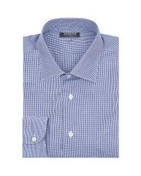 Harrods Blue Micro Check Shirt for men
