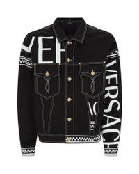 Versace Black Logo Jacket for men