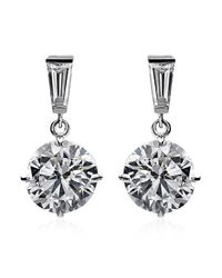 Carat* | Metallic 2ct Brilliant Round Drop Earrings | Lyst