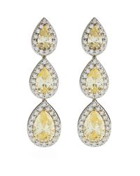 Carat* | Yellow Border Set Pear Cocktail Earrings | Lyst