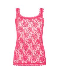 Hanky Panky | Pink Signature Lace Camisole 1390l | Lyst