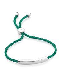 Monica Vinader Green Havana Friendship Bracelet