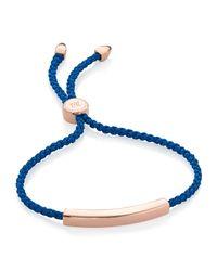 Monica Vinader | Blue Linear Friendship Bracelet | Lyst