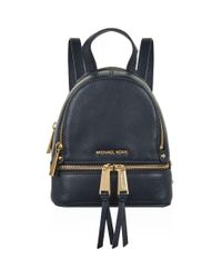 Michael Kors - Blue Mini Rhea Zip Backpack - Lyst