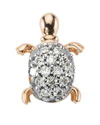 Bee Goddess White Happy & Lucky Turtle Earring