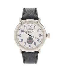 Shinola - Blue Grain Leather Strap Watch - Lyst