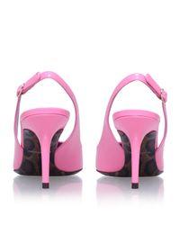 Dolce & Gabbana - Pink Kate Patent Slingbacks 75 - Lyst