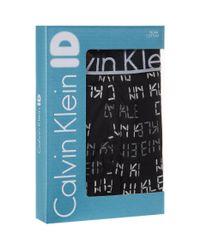 Calvin Klein - Black Digital Logo Trunks for Men - Lyst
