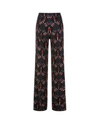 Valentino - Black Love Blade Print Trousers - Lyst