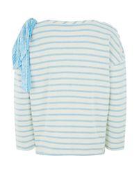 Claudie Pierlot Multicolor Striped Tie Sweater
