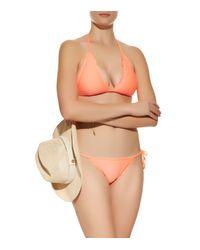 Heidi Klein - Orange Halterneck Bikini Top - Lyst