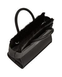 Givenchy | Black Mini Horizon Mink Trim Tote Bag | Lyst